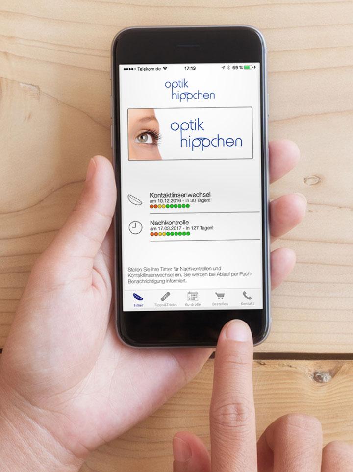optik hippchen LensTimer App