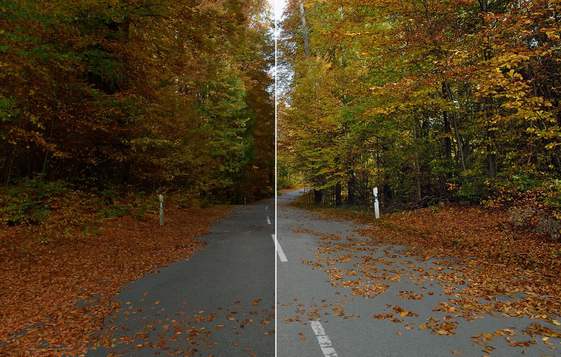 Vergleich mit und ohne ZEISS DriveSafe